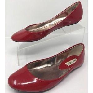 Like New! Steve Madden Red Patent Ballet Flats